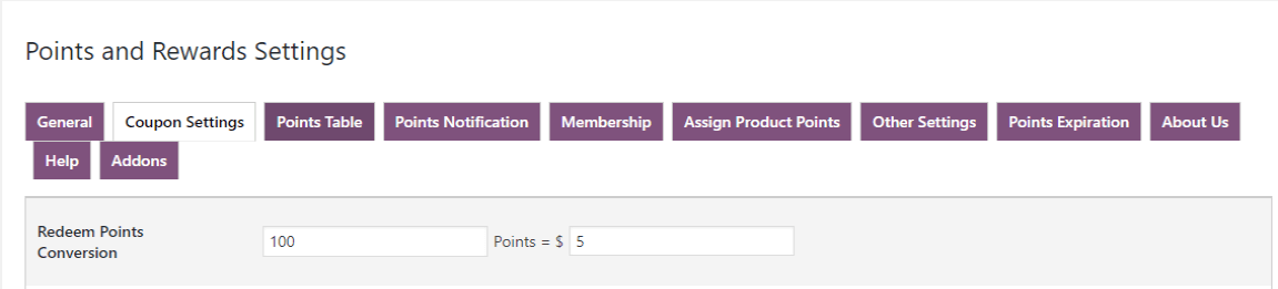 woocommerce points and rewards-redeem-points