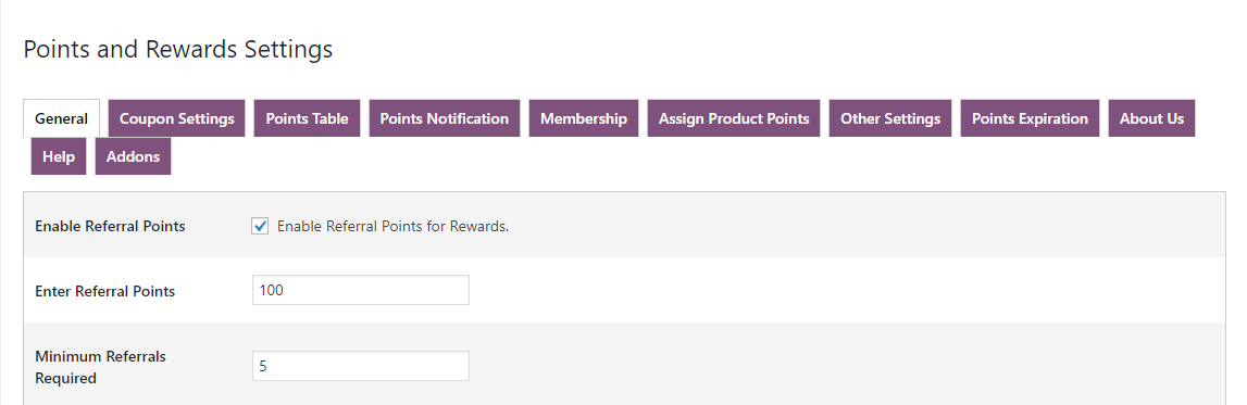 woocommerce points and rewards- referral-points