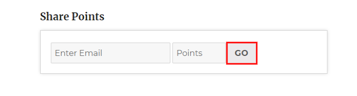 woocommerce points and rewards-share-points-userend