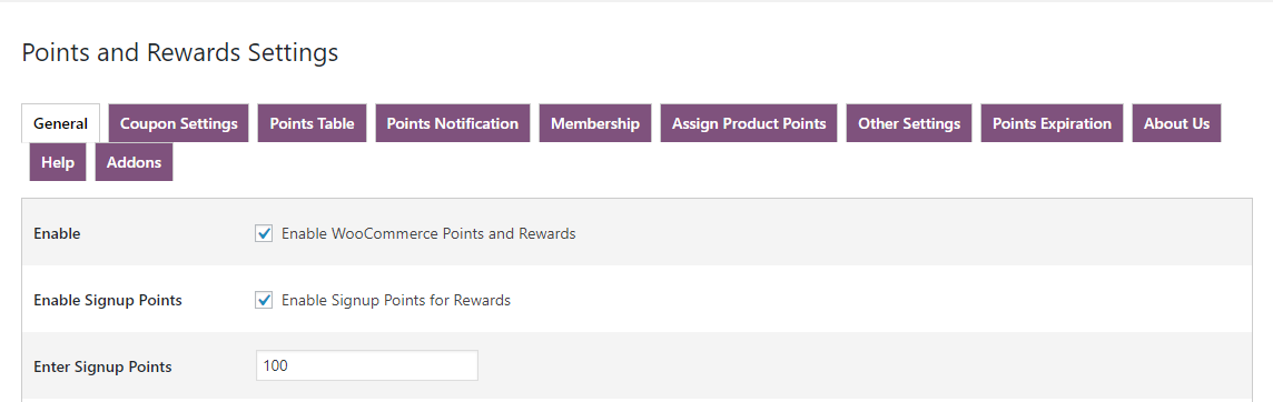 woocommerce points and rewards- signup-points