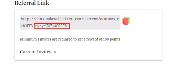 woocommerce points and rewards-static-referral-link