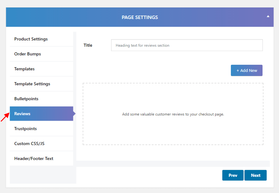 WooCommerce Converting Checkout Pages-review-seting-setting
