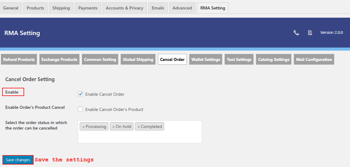 woocommerce-return-refund-exchange-cancel-order-setting