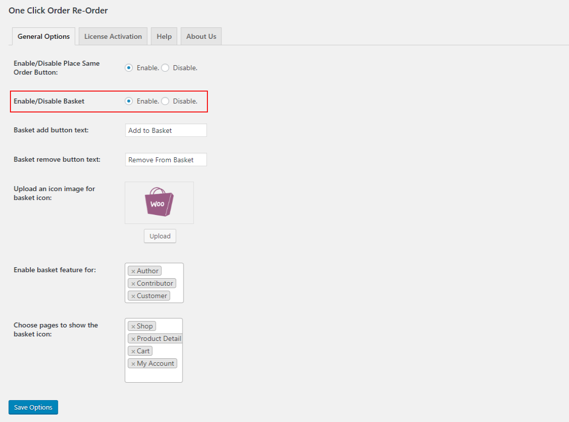 woocommerce-one-click-order-reorder-place-enable-basket-setting