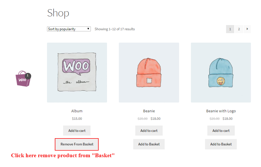 woocommerce-one-click-order-reorder-place-remove-product-in-basket