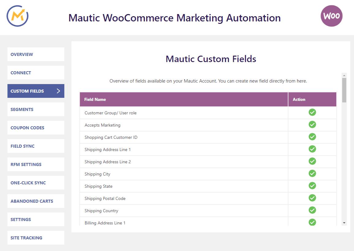 Mautic-integration-custom-fields-created