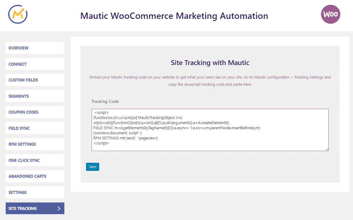 mautic-integration-tracking