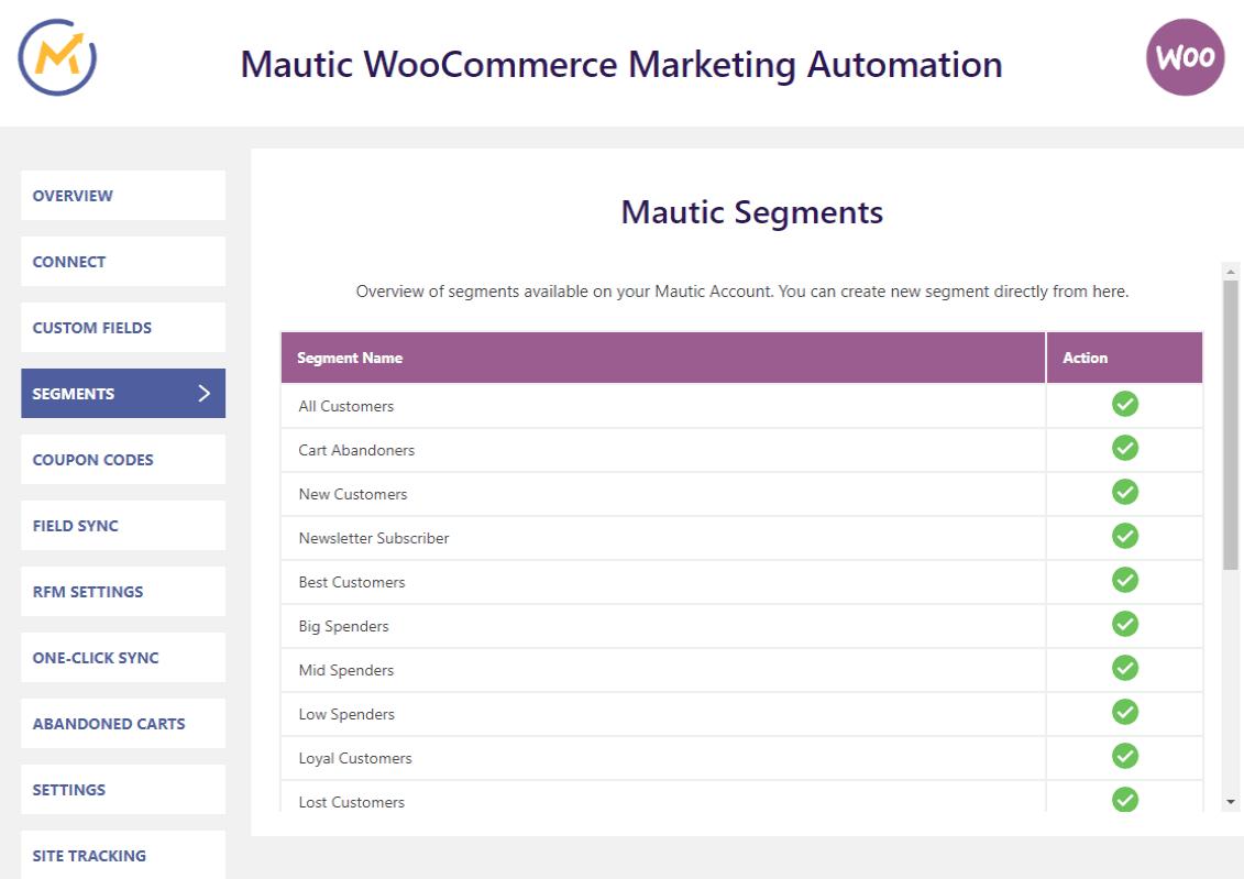 mautic-woocommerce-integration-segment