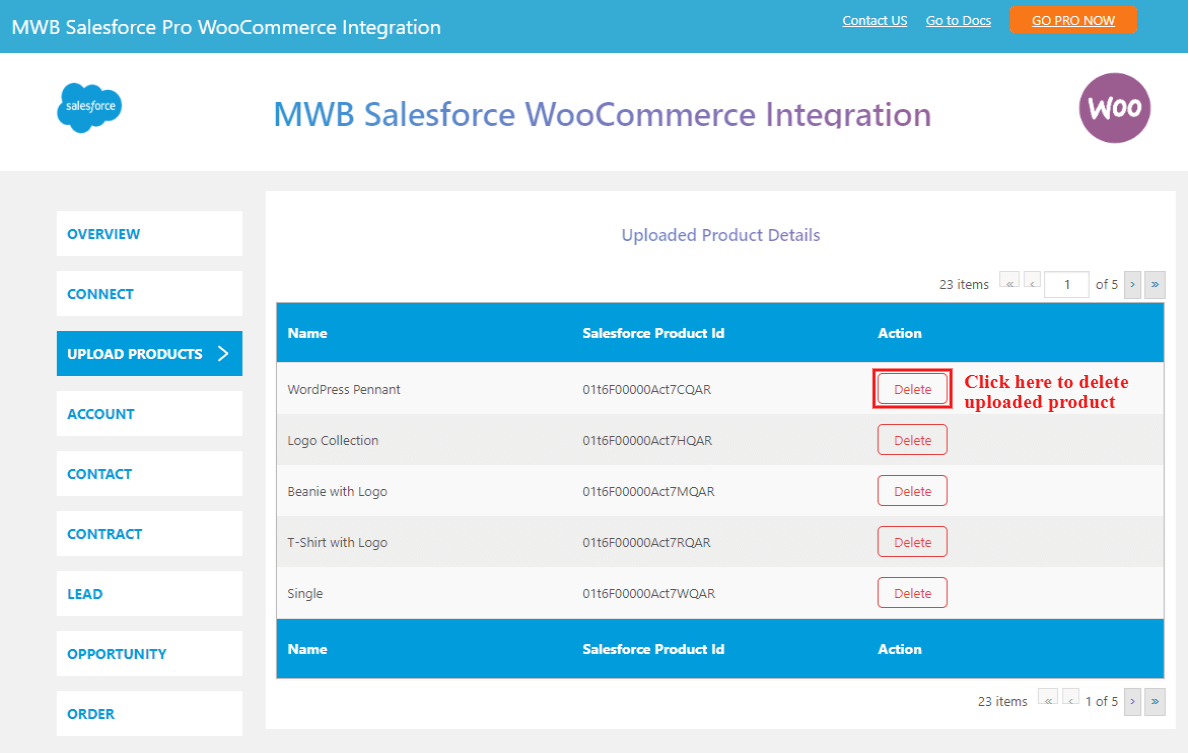 salesforce-woocommerce-integration-delete-product