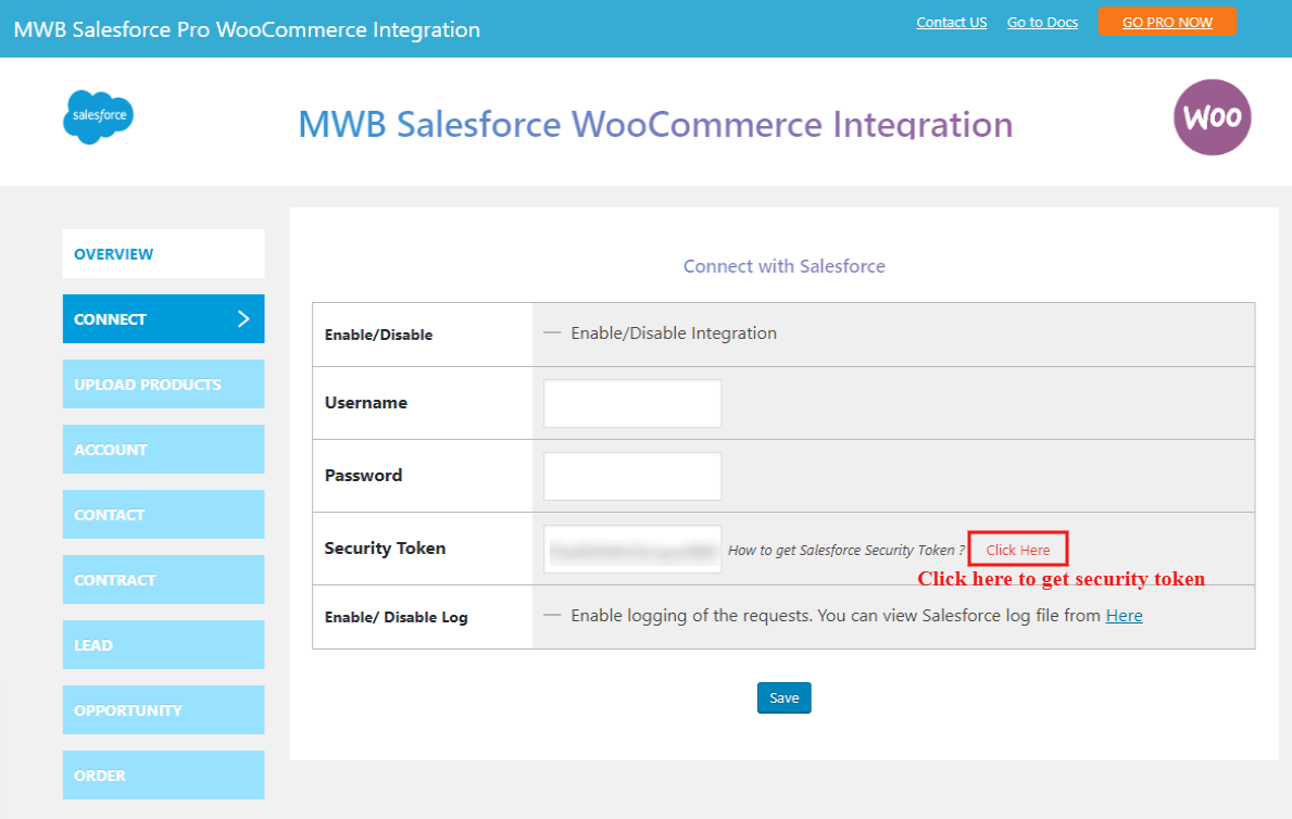 salesforce-woocommerce-integration-get-security-token