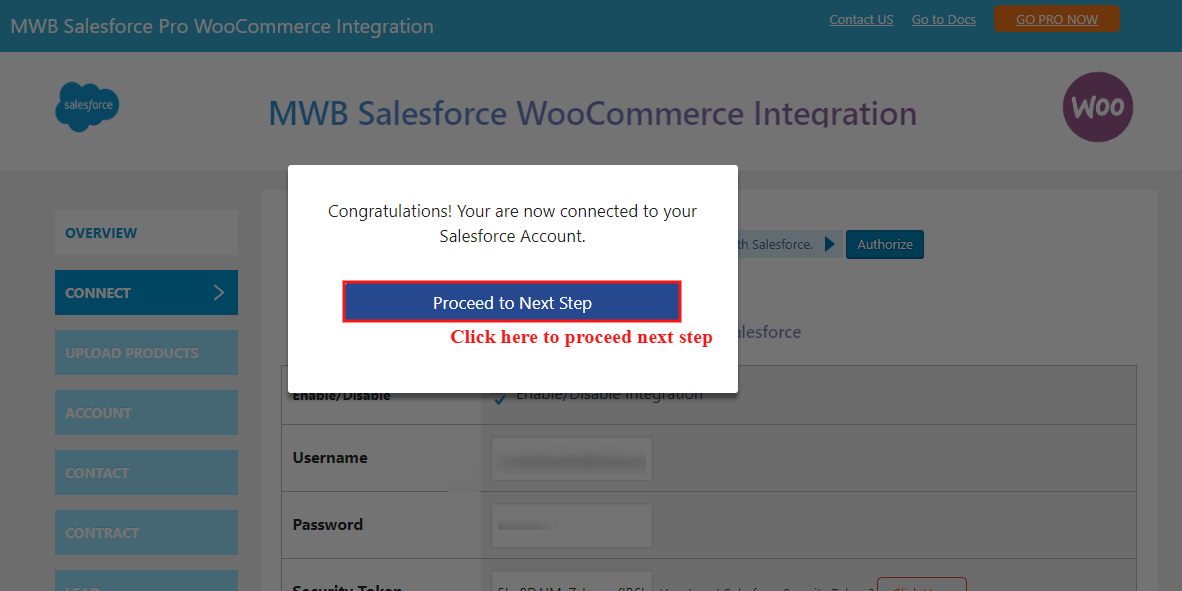 salesforce-woocommerce-integration-poceed-to-next-step