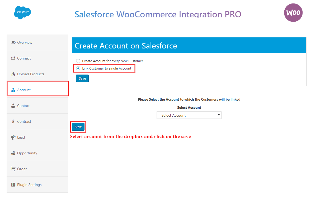 salesforce-woocommerce-integration-pro-add-account-in-a-parent-link
