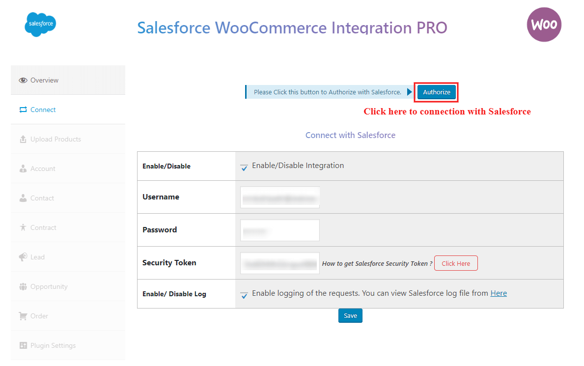 salesforce-woocommerce-integration-pro-connection-with-salesforce