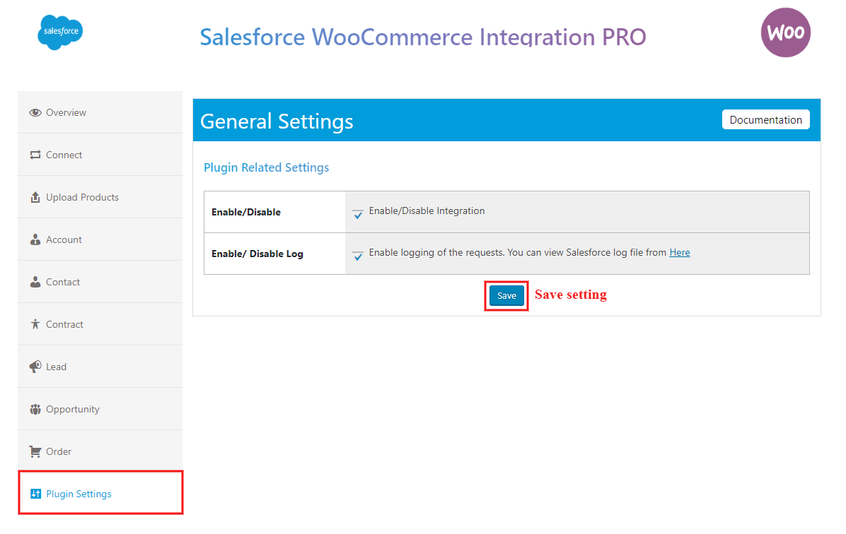 salesforce-woocommerce-integration-pro-plugin-setting