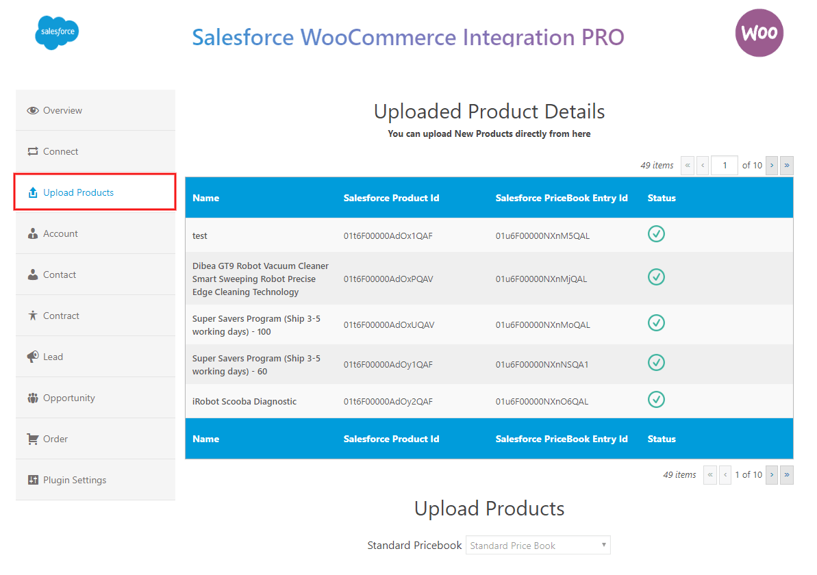 salesforce-woocommerce-integration-pro-upload-product-in-pricebook