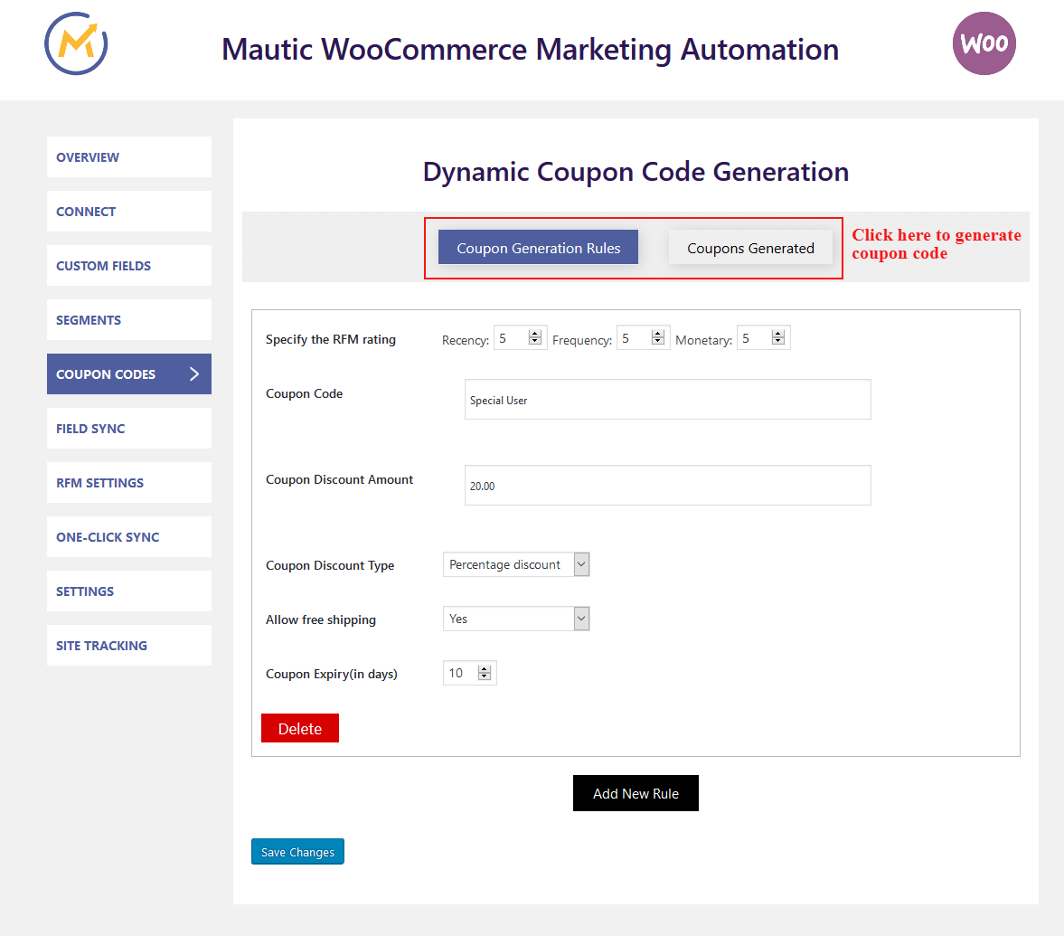 woocommerce-mautic-integration-coupon
