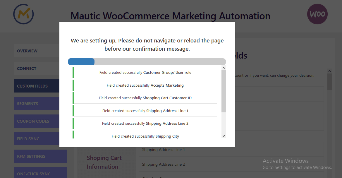 woocommerce-mautic-integration-field-setup