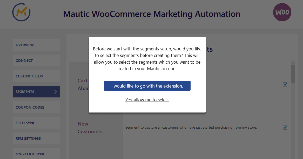 woocommerce-mautic-integration-segments