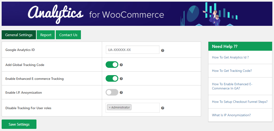 analytics-for-woocommerce-general-setting