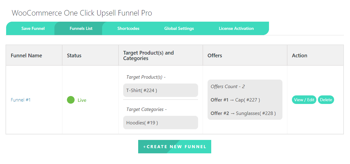 woocommerce-one-click-upsell-funnel-funnel-list