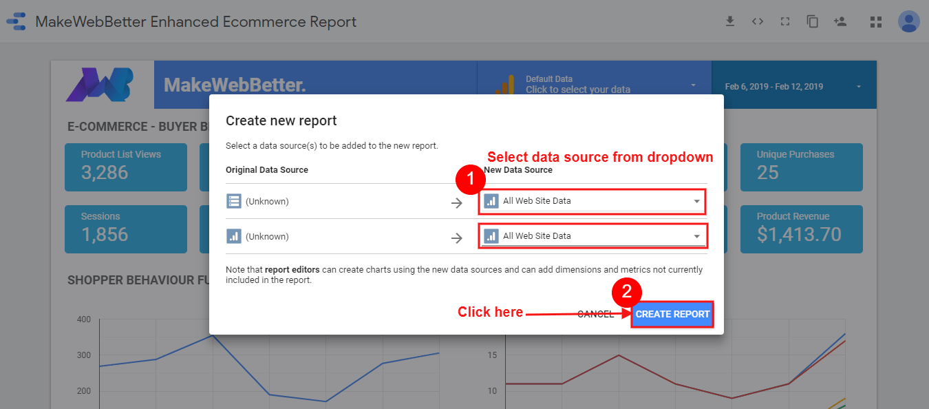 analytics-for-woocommerce-click-on-create-report