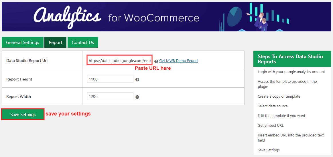 analytics-for-woocommerce-paste-url-save-setting