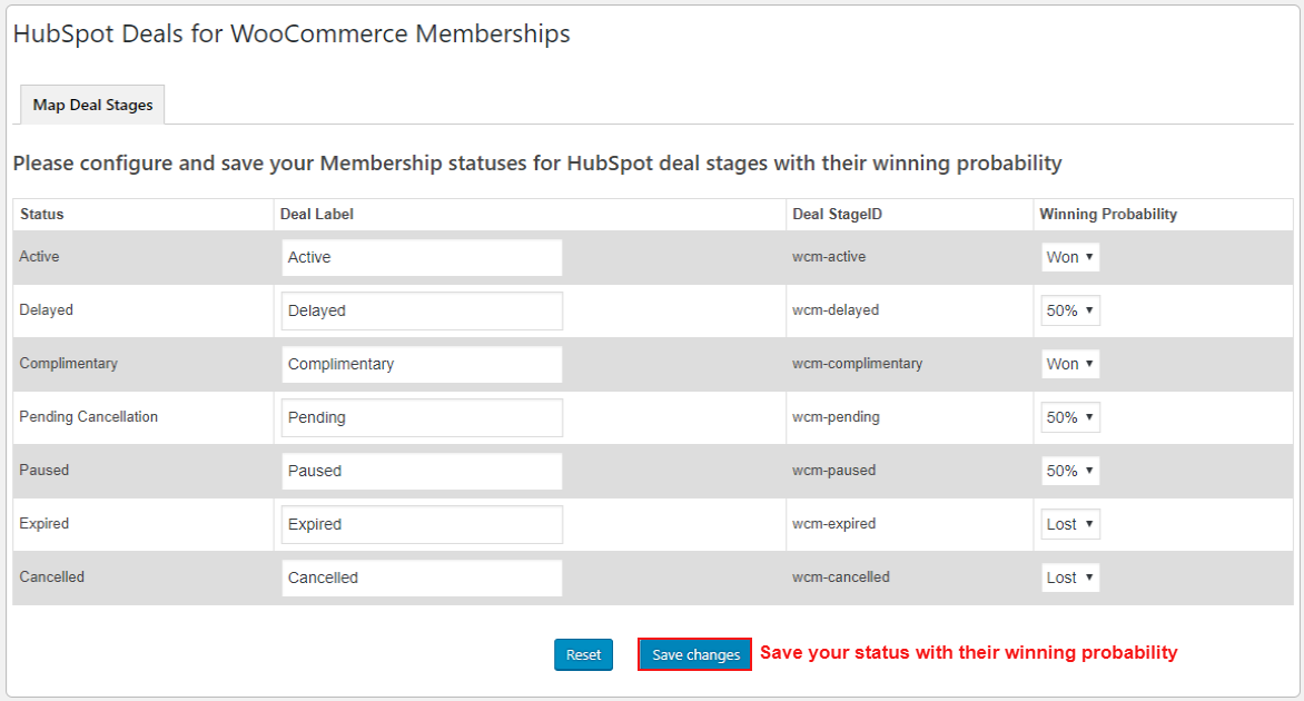 hubspot-deals-for-woocommerce-membership-map-deal-stage