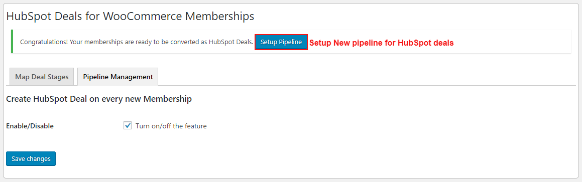hubspot-deals-for-woocommerce-membership-new-pipeline