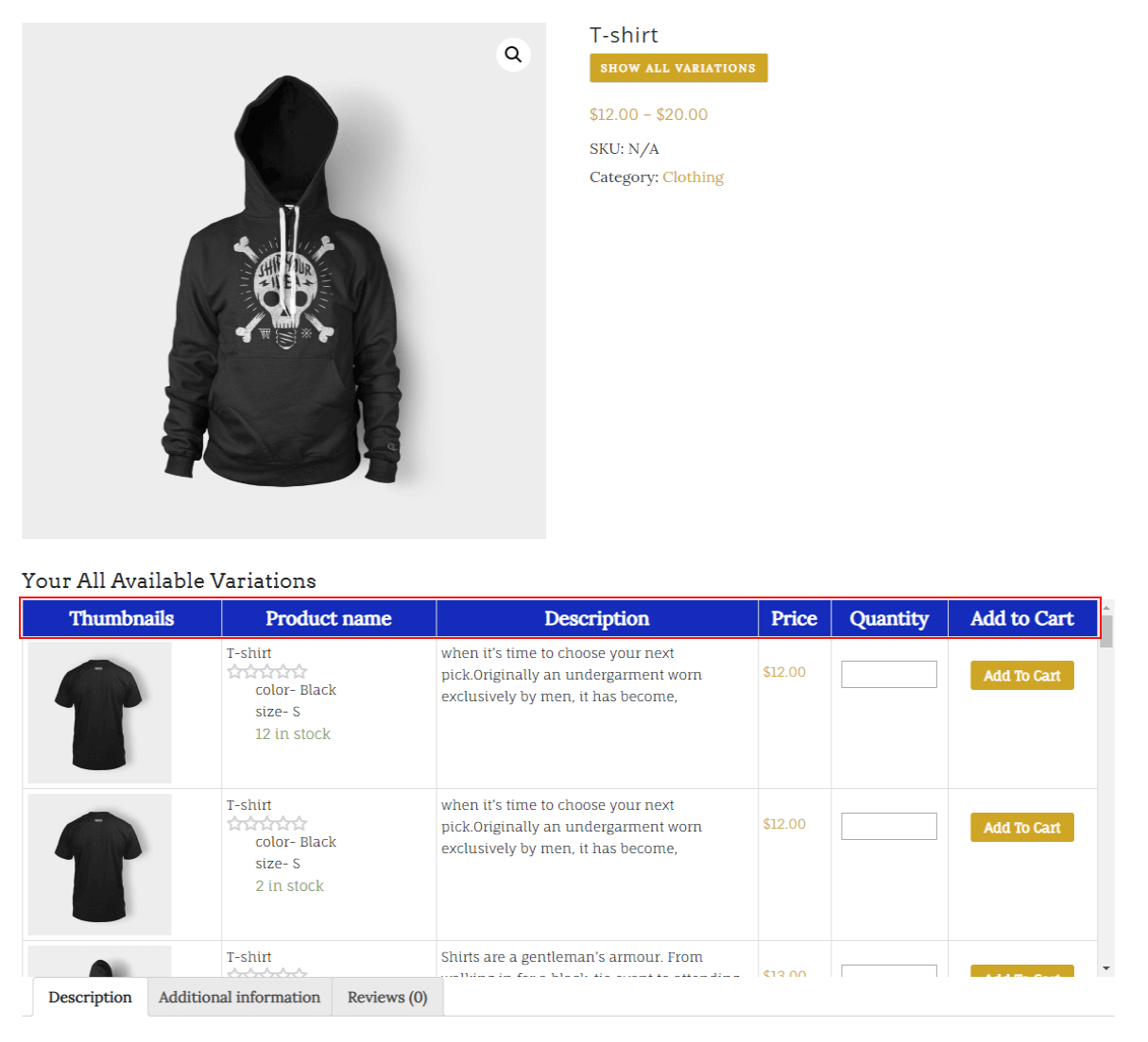 woocommerce-table-view-for-variations-change-header-color