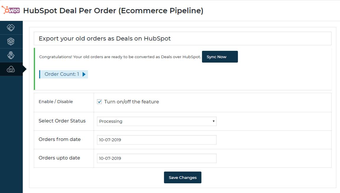 hubspot-deal-per-order-one-click-sync-setting