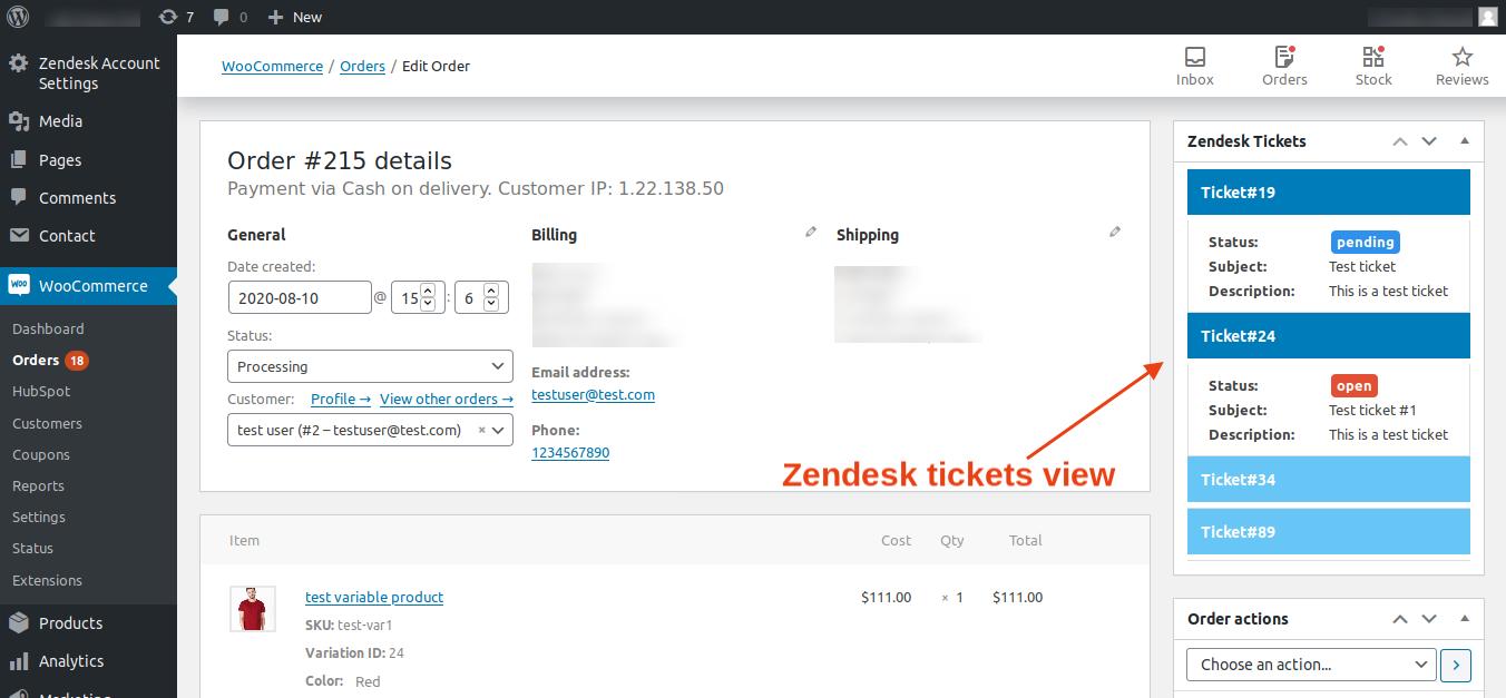 zendsk ticket view