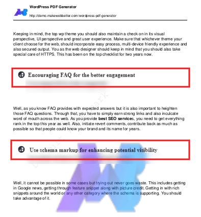 WordPress PDF Generator | Documentation [User Guide]