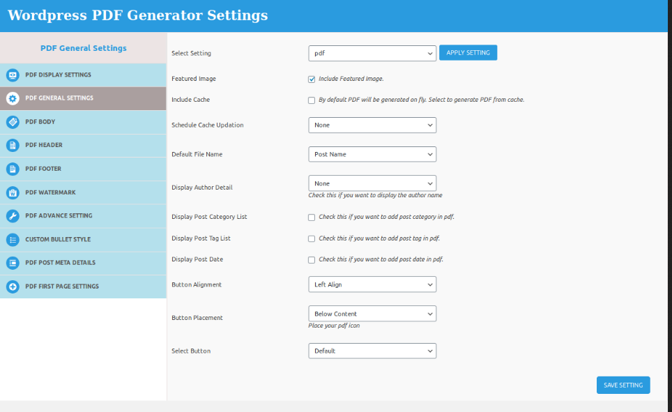 pdf-general-setting