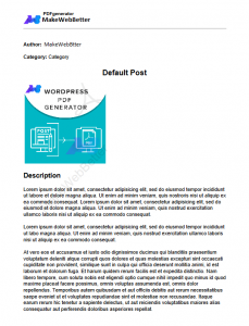 wordpress-pdf-genertor