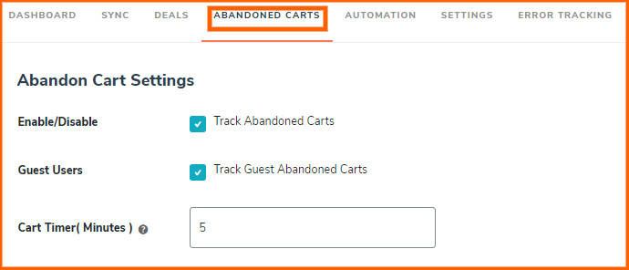 abandoned-cart-settings