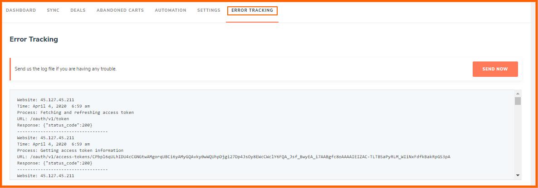 error tracking