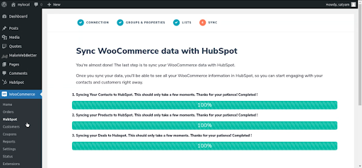 WooCommerce To HubSpot