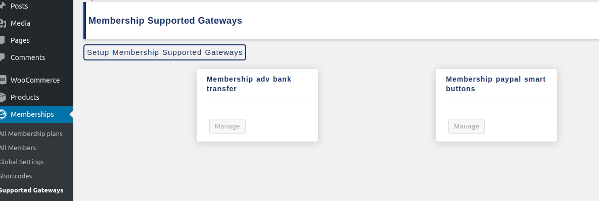 membership supported gateways