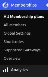 menu of membership