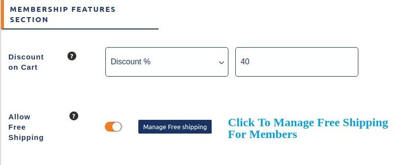 Manage free shipping