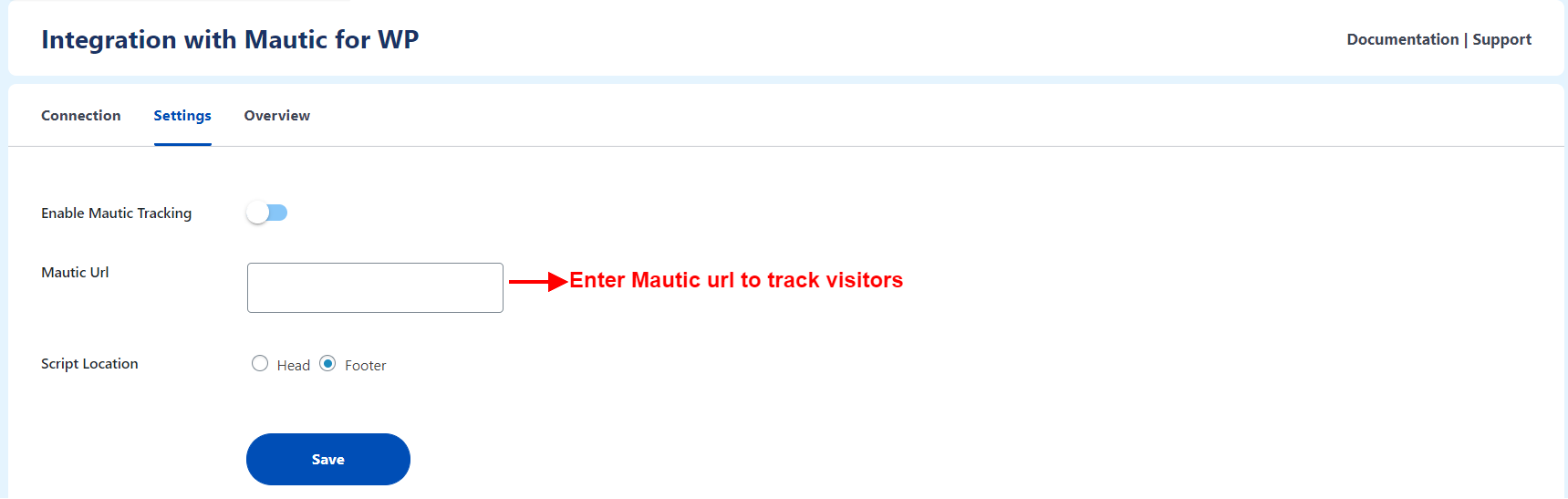 enable mautic tracking