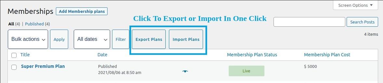 export import membership plans