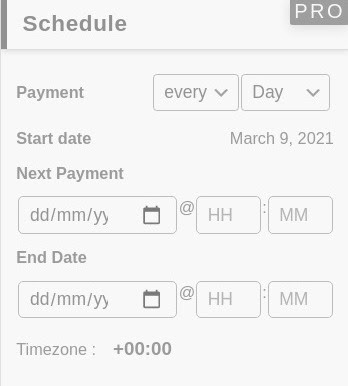 Schedule Recurring Payment