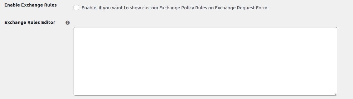exchange rules