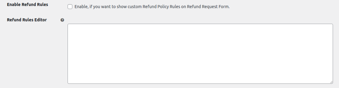 refund rules