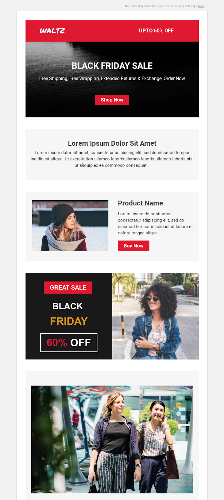 Waltz Email template