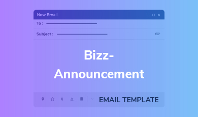 Email Template - Bizz-Announcement Email TemplateBizz-Announcement Email Template