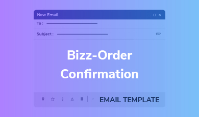 Email Template - Bizz-Order Confirmation Email Template