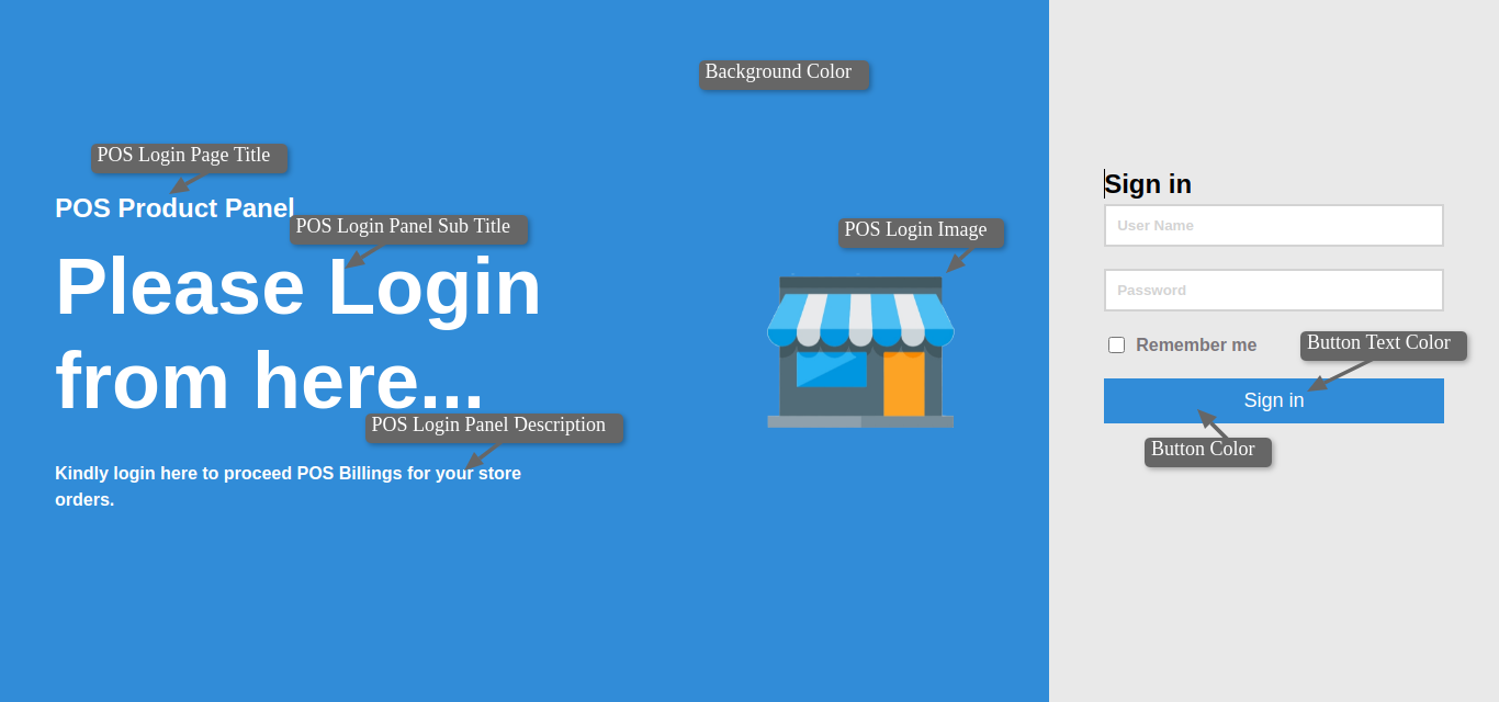 Login page setting frontend