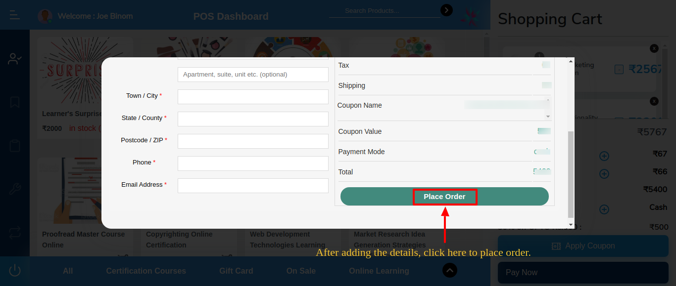 Frontend Finish Your Order Modal-2